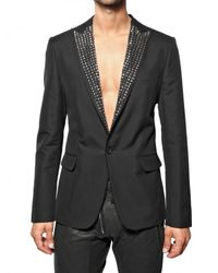 DSquared² | Black Studded Classic Blazer for Men | Lyst