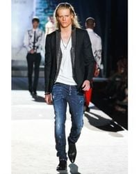 DSquared² - Blue 16,5cm Leather Side Seams Cool Guy Jeans for Men - Lyst