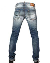 DSquared² - Blue 19cm Destroyed Denim Slim Fit Jeans for Men - Lyst