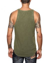DSquared² | Green Cotton Jersey Rooster Tank Top for Men | Lyst