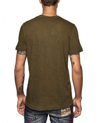 DSquared² - Green Cotton Linen Dsquared Beach T-shirt for Men - Lyst