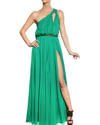 DSquared² | Green Silk Chiffon Long Dress | Lyst