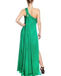 DSquared² - Green Silk Chiffon Long Dress - Lyst