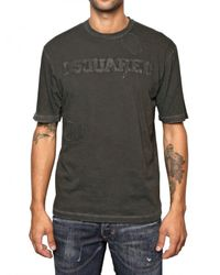 DSquared² | Gray Cotton Destroyed Dsquared T-shirt for Men | Lyst