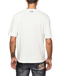 DSquared² - White Usa Flag Print Tshirt for Men - Lyst