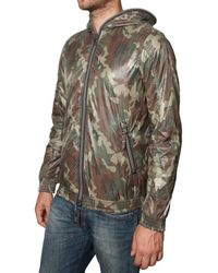 Duvetica | Green Camouflage Matt Nylon Alete Sport Jacket for Men | Lyst