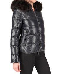 Duvetica - Gray Adhara Fur Down Jacket - Lyst