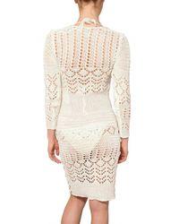 Emilio Pucci - White Jewelled Cotton Crochet Dress - Lyst
