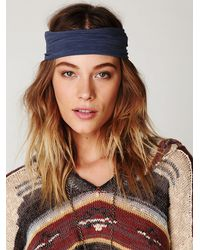 Free People | Blue Space Dye Headwrap | Lyst