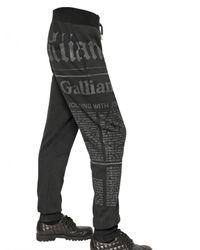 John Galliano | Black Gazette Fleece Jogging Trousers for Men | Lyst