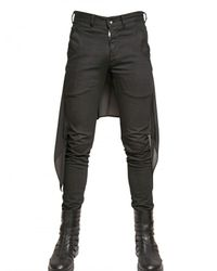 Gareth Pugh - Black Silk Chiffon and Stretch Denim Jeans for Men - Lyst