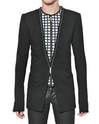 Gareth Pugh | Black Stretch Rayon Mix Techno Crepe Jacket for Men | Lyst