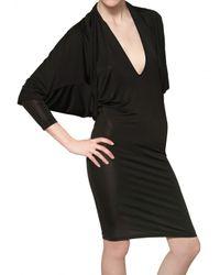 Gareth Pugh | Black Viscose Jersey Dress | Lyst
