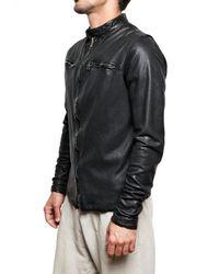 Giorgio Brato - Black Washed Nappa Bomber Leather Jacket for Men - Lyst