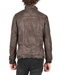 Giorgio Brato - Brown Vegetable Washed Nappa Leather Jacket for Men - Lyst
