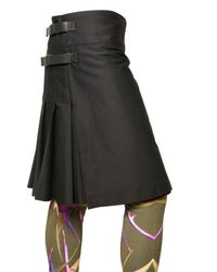 Givenchy - Black Cotton Gabardine Pleated Skirt for Men - Lyst