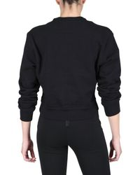 Givenchy | Black Front Silk Chiffon Fleece Sweatshirt | Lyst
