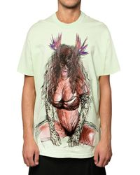 Givenchy | Green Pin Up Printed Jersey Oversized T-shirt for Men | Lyst