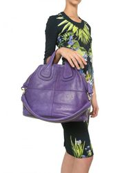 Givenchy | Purple Nightingale Medium Smooth Top Handle | Lyst