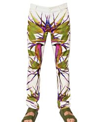 Givenchy - White 17cm Bird Of Paradise Print Den Jeans for Men - Lyst
