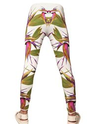 Givenchy - White Birds Of Paradise Jersey Leggings/ Trousers for Men - Lyst