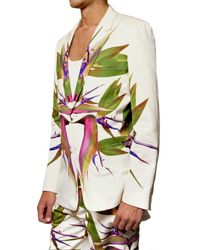 Givenchy - White Birds Of Paradise Print Gabardine Jacket for Men - Lyst