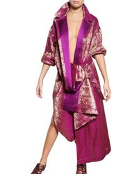 Haider Ackermann | Purple Linen Silk Damask Coat | Lyst