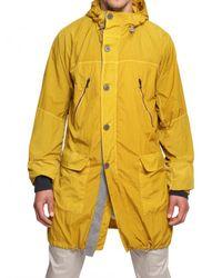 Iceberg - Yellow Nylon Parka Coat for Men - Lyst