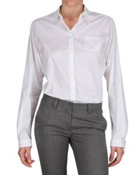 Jil Sander | White Stretch Poplin Shirt | Lyst