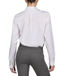 Jil Sander - White Stretch Poplin Shirt - Lyst