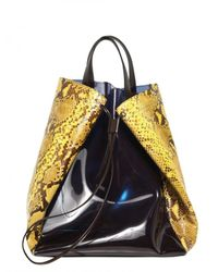 Jil Sander | Black Pvc and Python Tote Bag for Men | Lyst