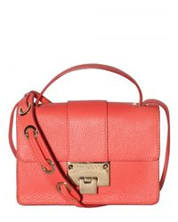 Jimmy Choo | Pink Rebel Grainy Leather Shoulder Bag | Lyst