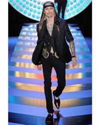 John Galliano - Black Twill Wool Pearls Embroidery Vest for Men - Lyst