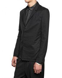 Kris Van Assche - Black Raw Cut Wool Voile On Twill Jacket for Men - Lyst
