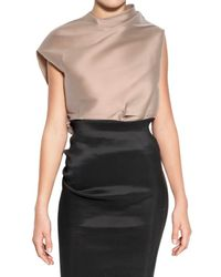 Lanvin | Natural Stretch Silk Organza Top | Lyst