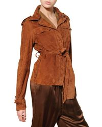 Lanvin | Brown Suede Jacket | Lyst