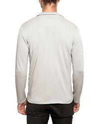 Lanvin - Gray Wool Cotton Knit Cardigan Sweater for Men - Lyst