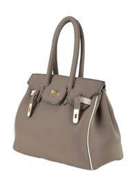 Leghilà | Brown B-bag Large Neoprene Top Handle | Lyst