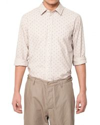 Marc Jacobs - Natural Cotton Linen Pinstripe Floral Shirt for Men - Lyst
