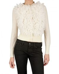 Mirco Giovannini | White Merinos Mohair Knit Cardigan Sweater | Lyst