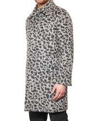 MSGM | Gray Leopard Eco Fur Coat for Men | Lyst