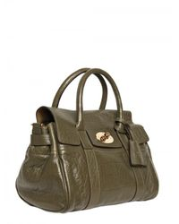 Mulberry - Green Small Bayswater Satchel Top Handle - Lyst