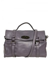 Mulberry | Gray Oversize Alexa Soft Buffalo Leather Top | Lyst