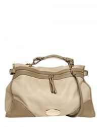 Mulberry - Natural Oversized Taylor Soft Leather Satchel - Lyst