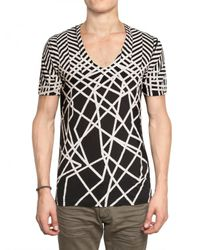 Neil Barrett | Black Abstract Print Jersey T-shirt for Men | Lyst