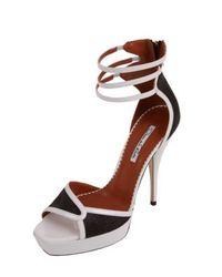 Oscar de la Renta | Black Triple Strap Profilo Sandal | Lyst