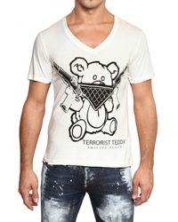 Philipp Plein | White Terrorist Bear Jersey T-shirt for Men | Lyst