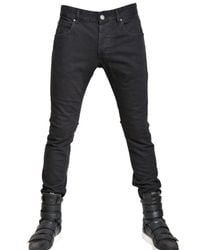 Balmain | Black 17cm Stretch Denim Super Skinny Jeans for Men | Lyst