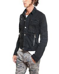 Balmain | Black Distressed Denim Sport Jacket for Men | Lyst