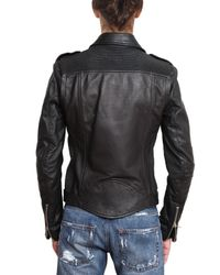 Balmain - Black Kiodo Leather Jacket for Men - Lyst